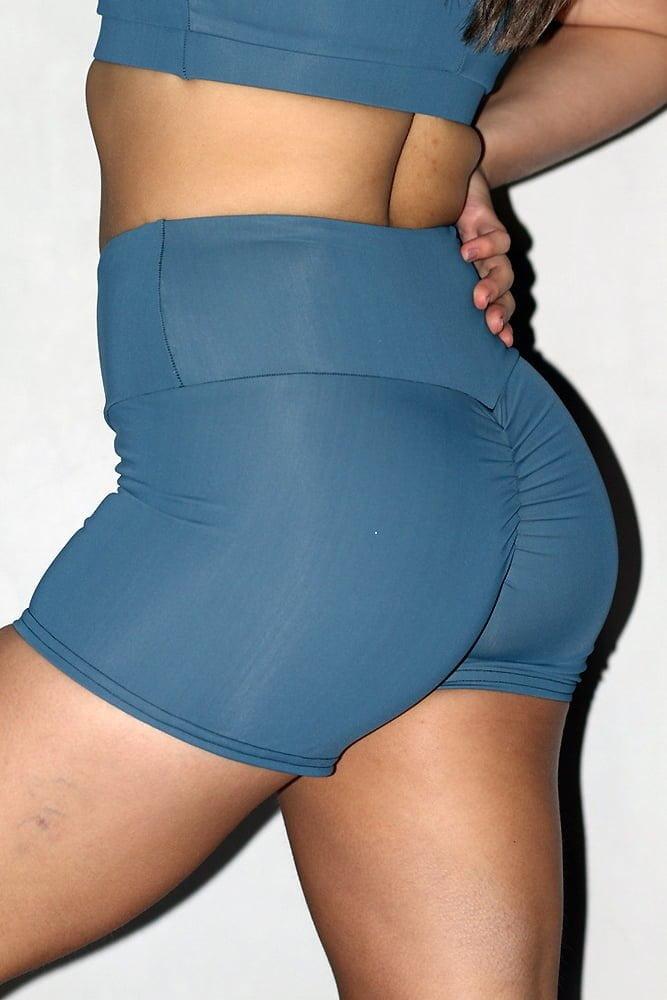 Smoky Blue Gym Short