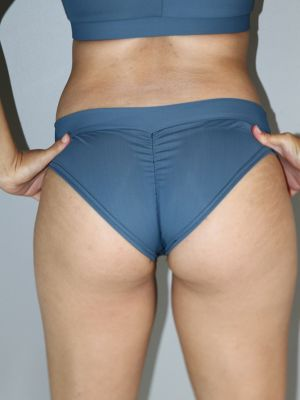 Rarr designs Smoky Blue BRAZIL Fit Scrunchie Bum Shorts