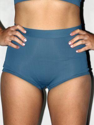 Rarr designs Smokey Blue High Waist Cheeky Shorts