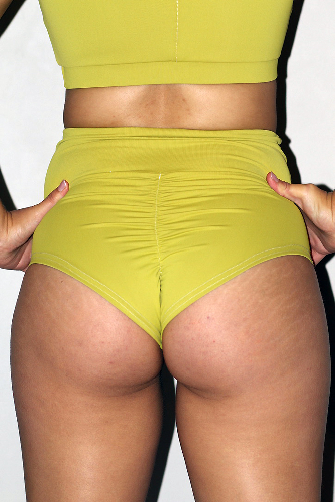Rarr designs Citrine SUPER High Waisted BRAZIL Scrunchie Bum Shorts