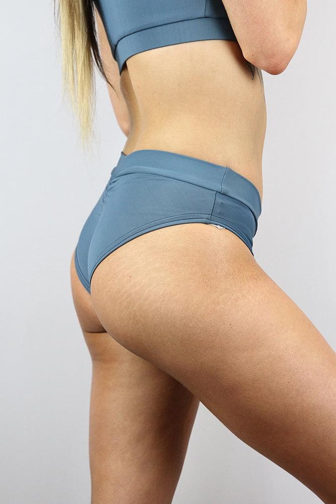 Rarr designs Smokey Blue BRAZIL Fit Scrunchie Bum Shorts