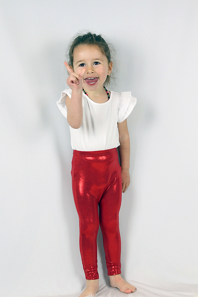Red Sparkle Baby Toddler Leggings/ Tights