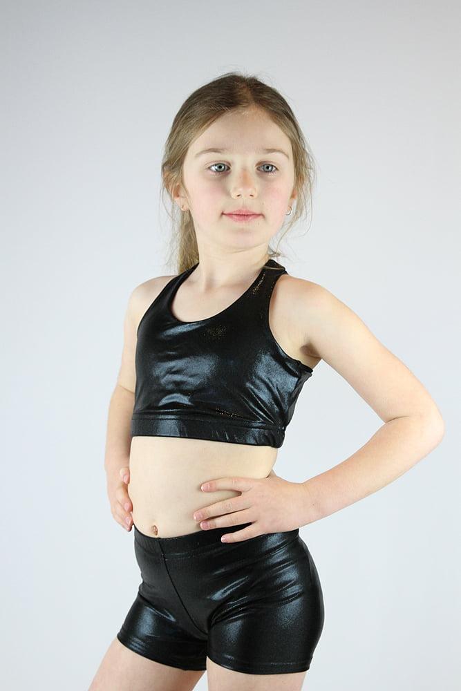 Black Sparkle Short Youth Girls