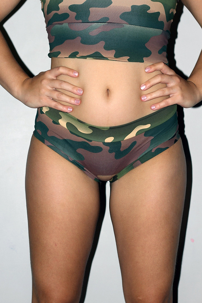 Rarr Designs Camouflage Naughty Fit Shorts