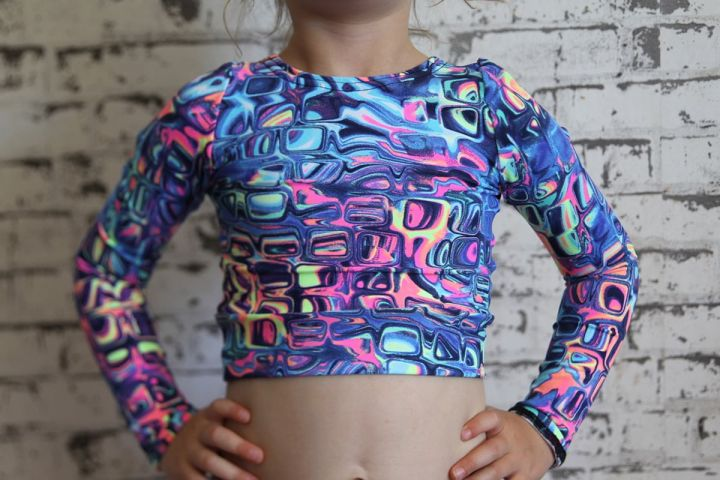 Lava Long Sleeve Crop Top Youth Girls
