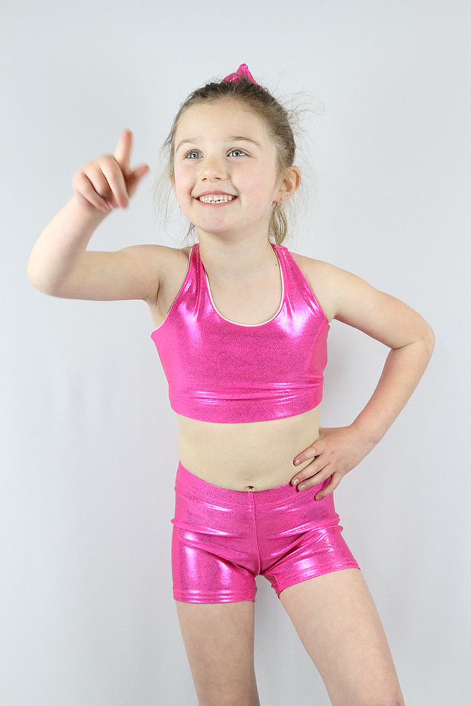 Pink Sparkle Short Youth Girls