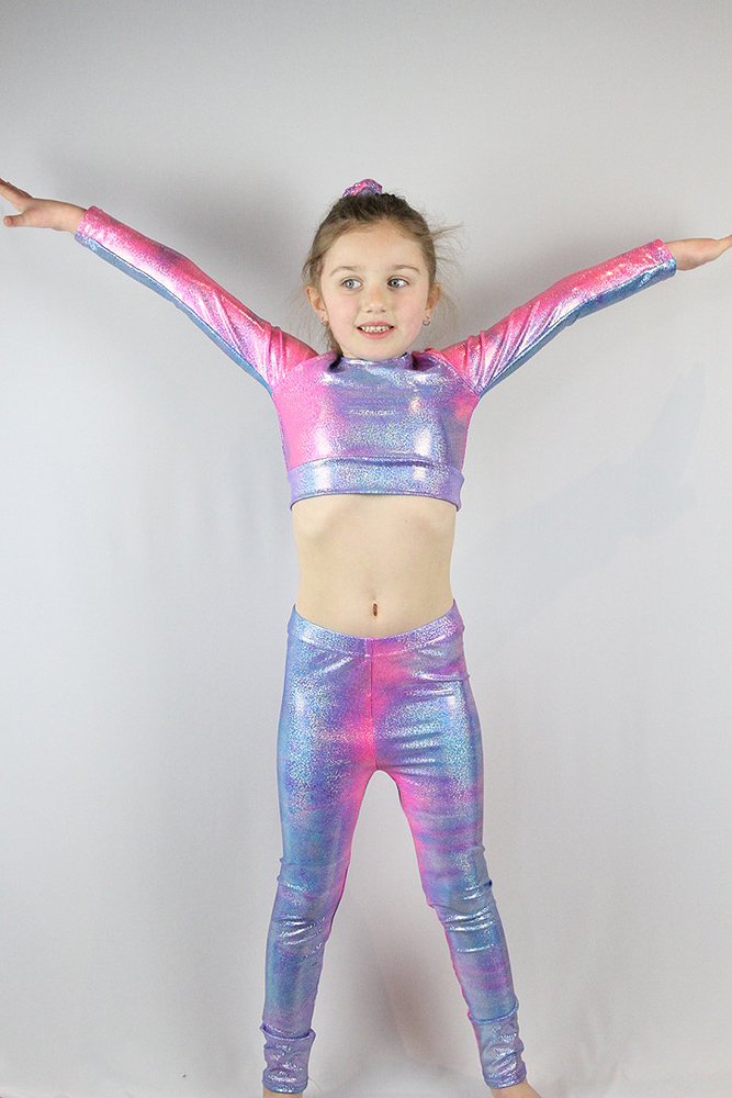 Candy Long Sleeve Crop Top Youth Girls