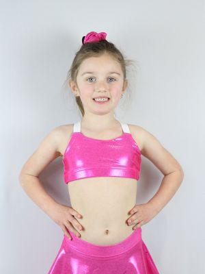 Pink Sparkle V Sports bra Youth Girls