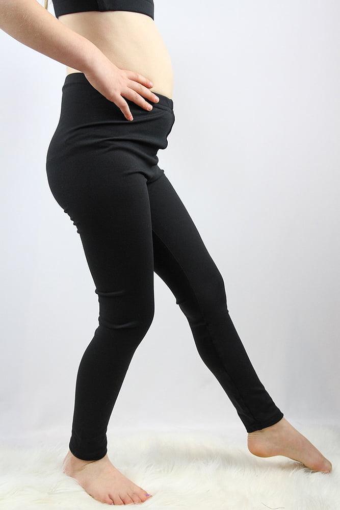 Matte Black Youth Leggings/Tights