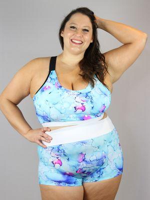 Rarr Designs Watercolour High Waisted Cheeky Shorts - Plus Size