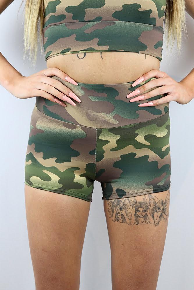 Rarr Designs Camouflage Gym Short