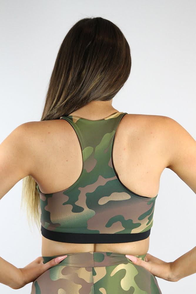 Rarr Designs Camouflage V Sports Bra