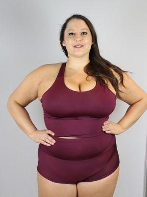 Rarr Designs Fig High Waisted BRAZIL Scrunchie Bum Shorts - Plus Size