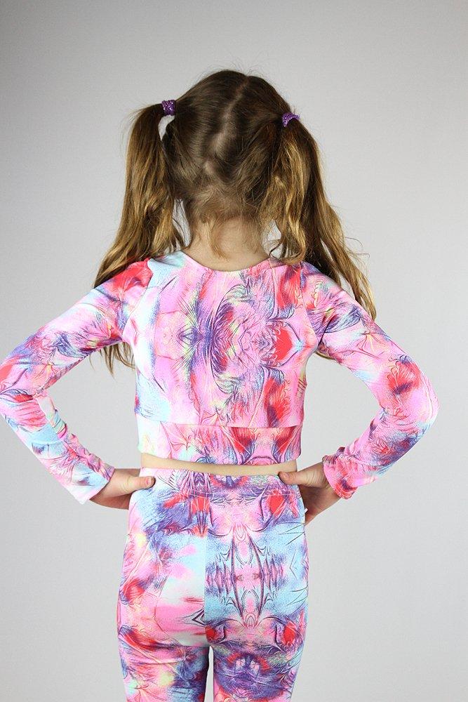 Hummingbird Long Sleeve Crop Top Youth Girls
