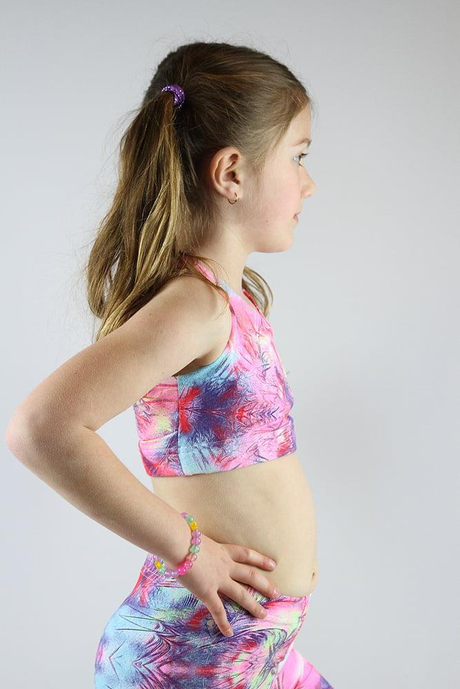 Hummingbird Crop Top Sports Bra Youth Girls