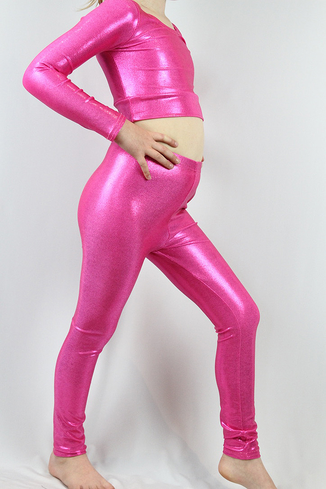 Pink Sparkle Youth Girls Leggings/Tights