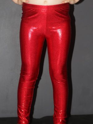 Red Sparkle Youth Girls Leggings/Tights