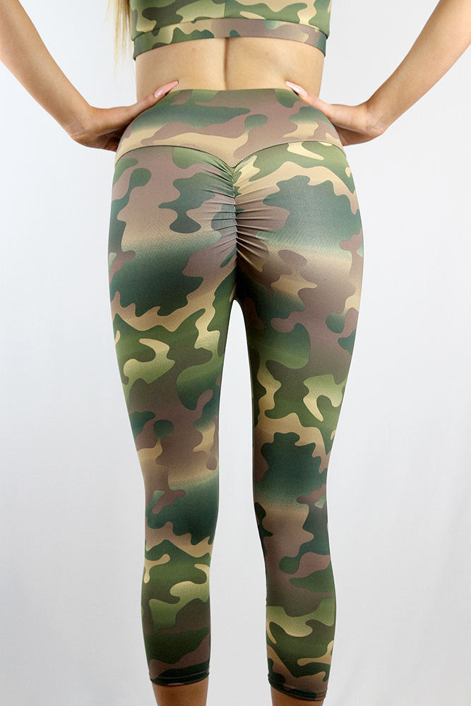 Rarr Designs Camouflage 7/8 Length Leggings Tights