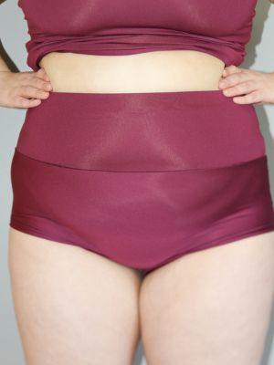 Fig High Waisted BRAZIL Scrunchie Bum Shorts - Plus Size