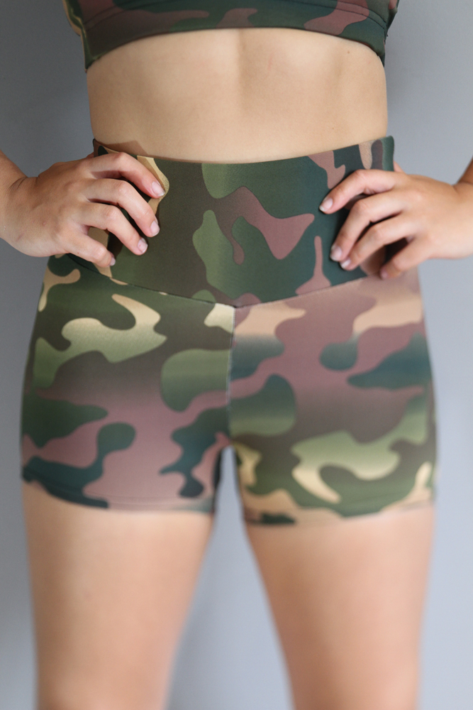 Camouflage Gym Short