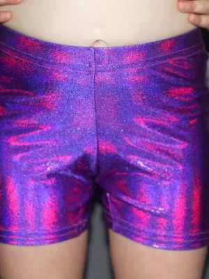 Purple Sparkle Short Youth Girls