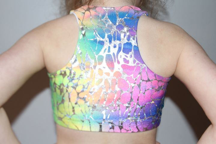 Kaleidoscope Crop Top Sports Bra Youth Girls