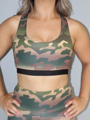 Camouflage Racer Back Sports Bra