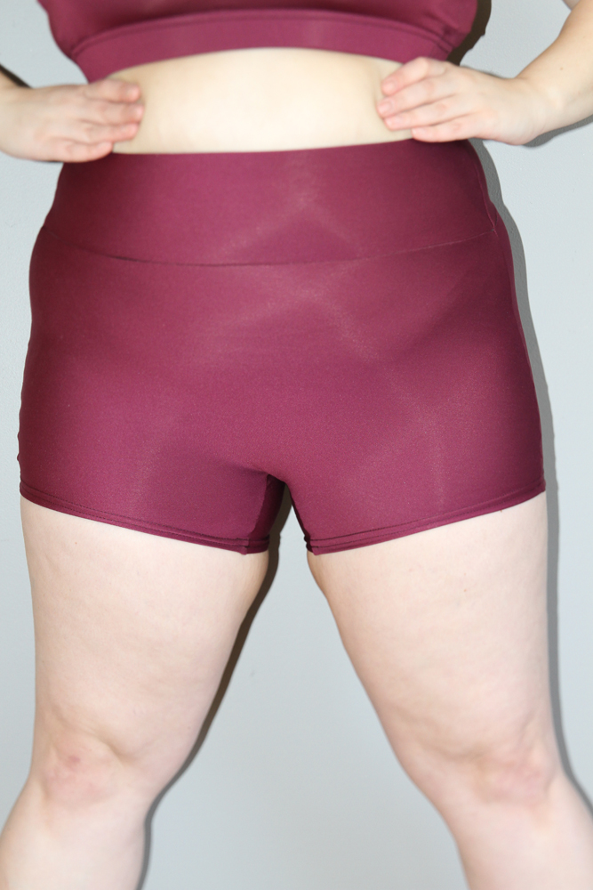Fig High Waisted Cheeky Shorts - Plus Size