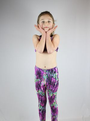 Pink Mystic Youth Leggings/Tights