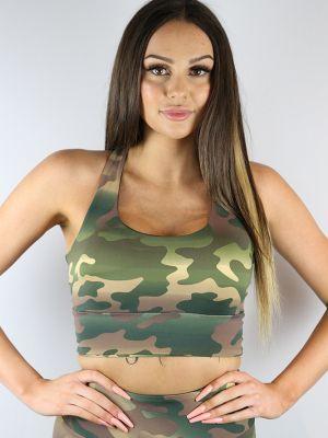 Rarr Designs Camouflage Long Line Racer Back Bra