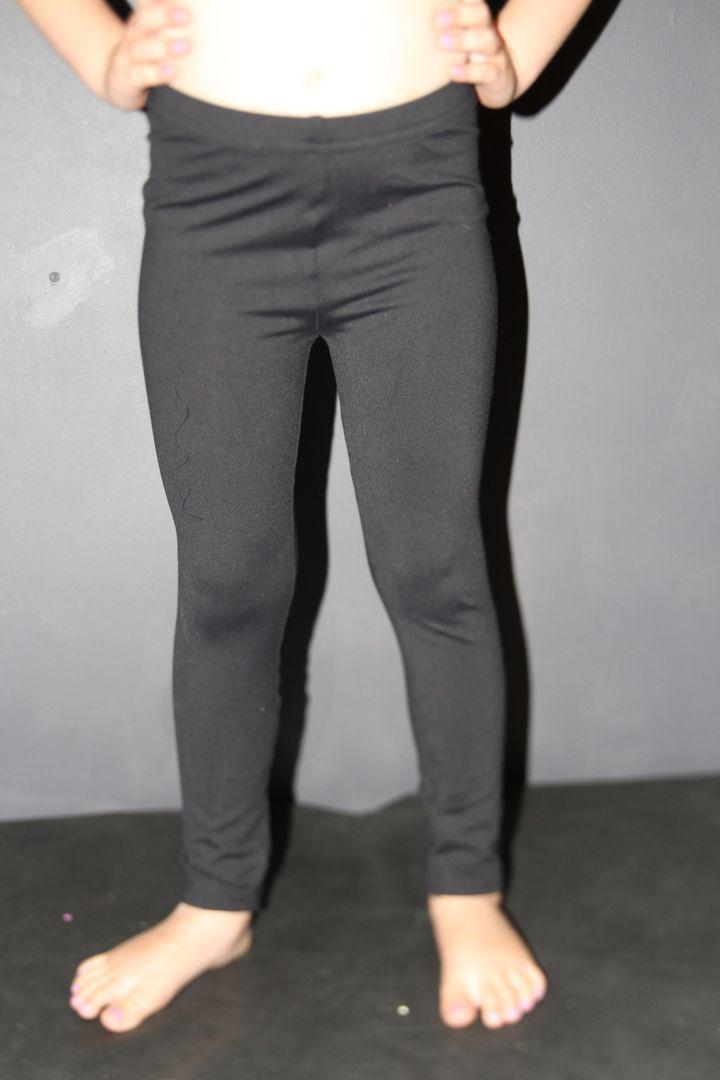 Matte Black Youth Girls Leggings/ tights