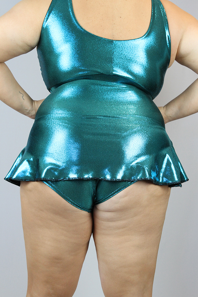 Rarr Designs Jade Sparkle Mid Waisted Skort - Plus Size