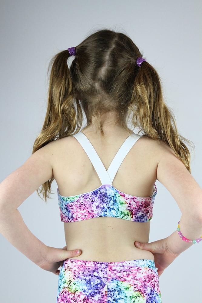 Glitter V Sports Bra Youth Girls