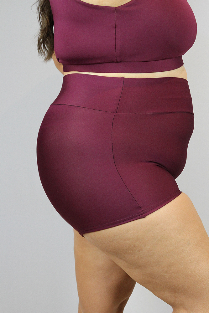 Rarr Designs Fig High Waisted Cheeky Shorts - Plus Size
