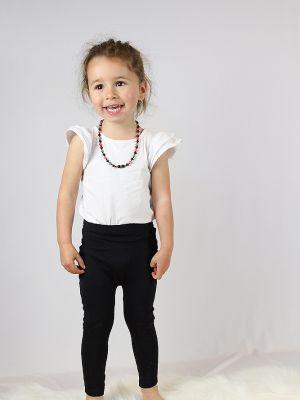 Matte Black Baby Toddler Leggings/ Tights