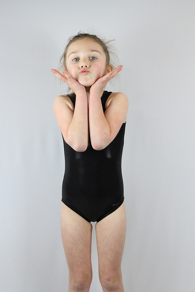 Rarr designs Black sparkle Leotard/One piece sleeveless Youth Girls