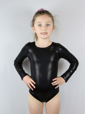 Rarr designs Black sparkle Leotard/One piece long sleeve Youth Girls
