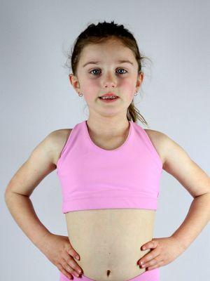 Peony Crop Top sports Bra Youth Girls