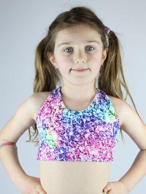 Glitter Crop Top Sports Bra Youth Girls
