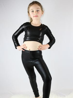 Black Sparkle Youth Girls Leggings/Tights