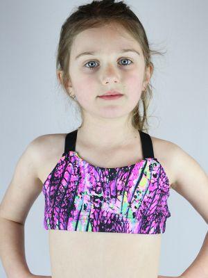 Pink Mystic V Sports Bra Youth Girls