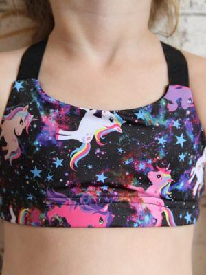 Space Pony V Sports bra Youth Girls