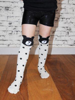 Knee High Football Socks Dog Black