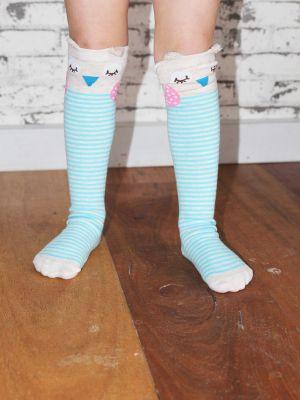 Knee High Football Socks owl jade green