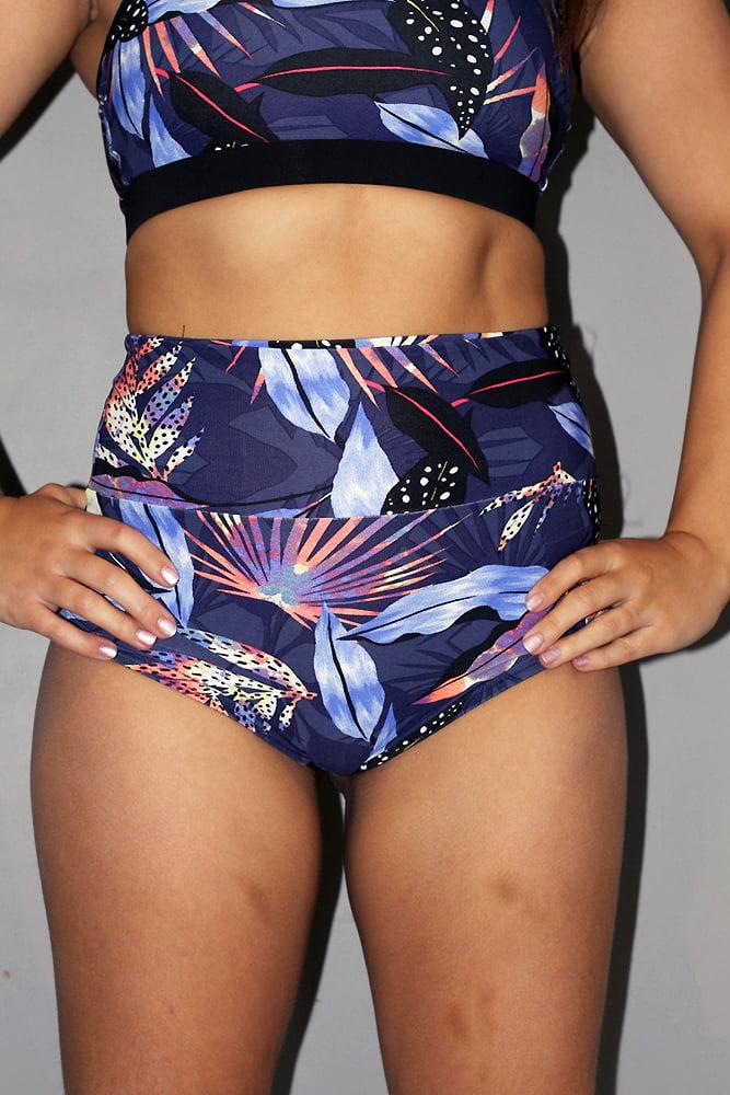 Mystical Forest SUPER High Waisted BRAZIL Scrunchie Bum Shorts