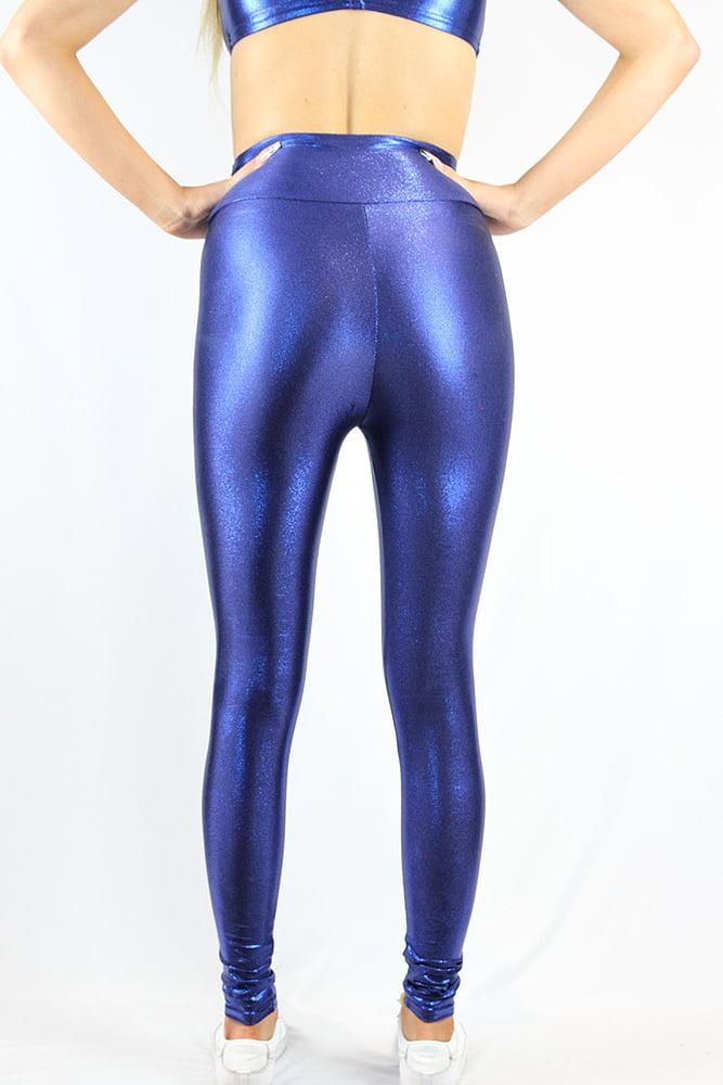 Rarr Designs Navy Sparkle Full Length Leggings/Tights
