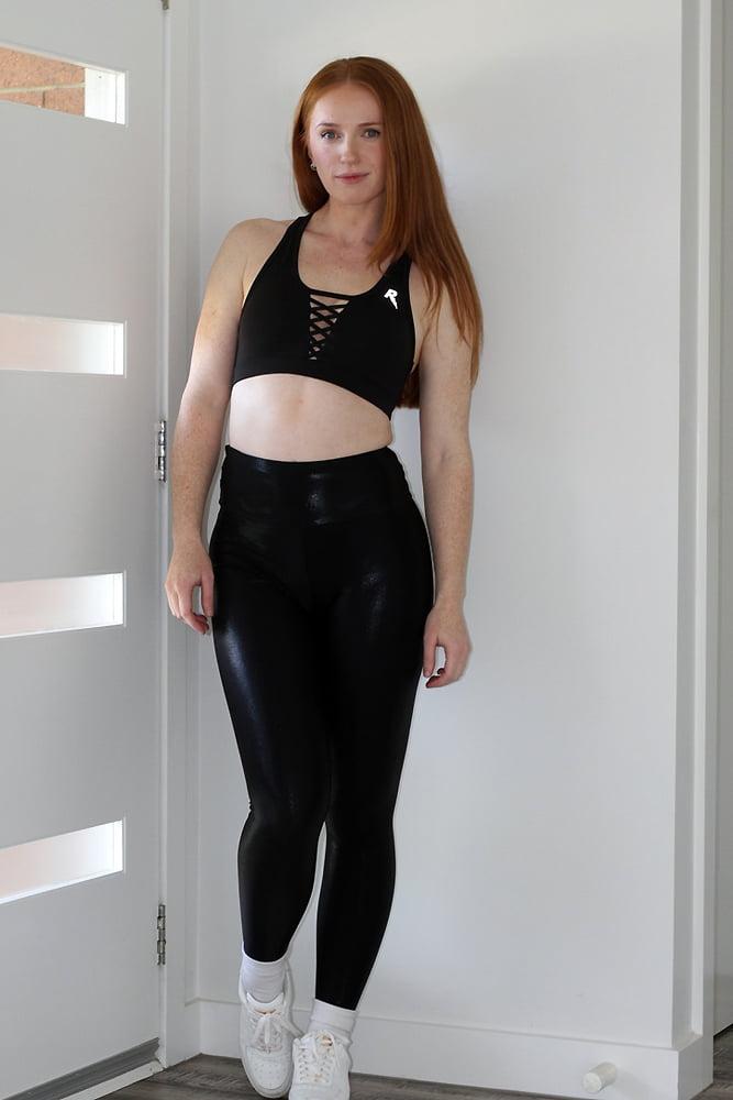 Rarr Designs Black Sparkle Full Length Leggings/Tights