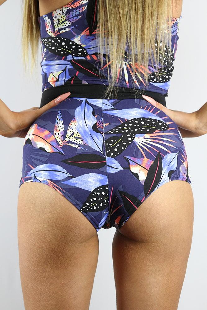 Rarr Designs Mystical Forest High Waist Cheeky Shorts