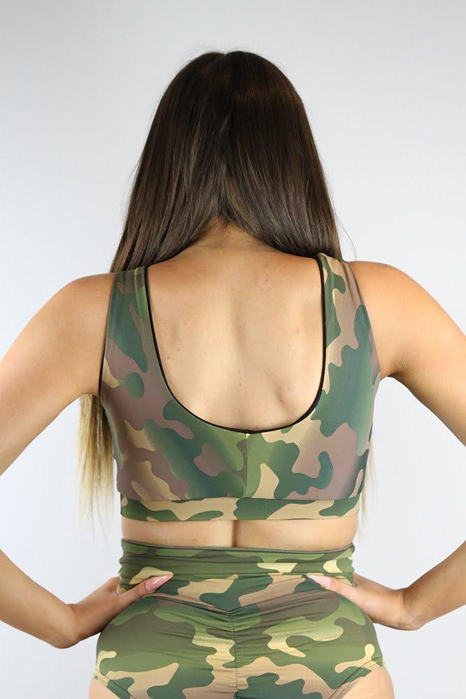 Rarr Designs Camouflage Sweet Scoop Sports Bra