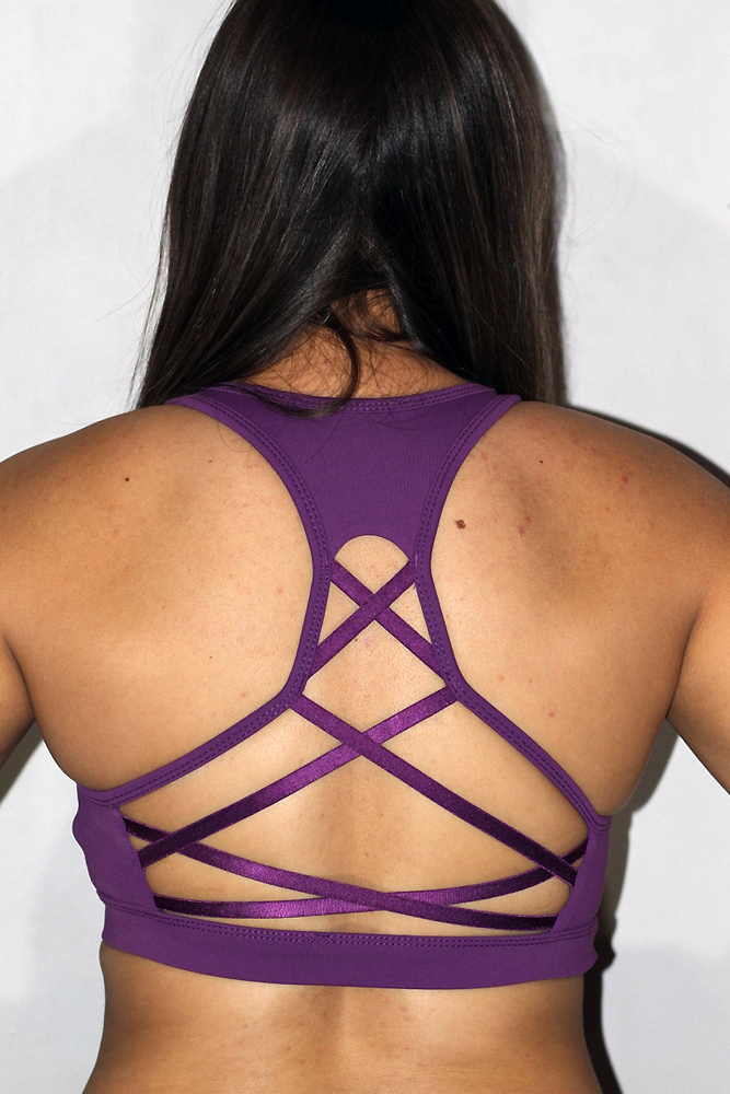 Rarr designs Ziki Sports Bra Grape